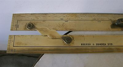 BRASS NAUTICAL RULE Parallel Maritime Navigational Ruler Kelvin & Hughes C1900