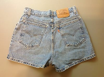 VTG. Orange Tag Levi's Women's 912 Slim Fit Mom Shorts Size 11 Light Wash VGC