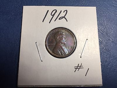 1912 Lincoln Wheat Penny .