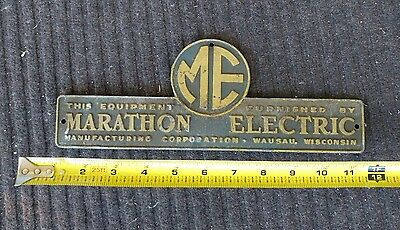 Marathon Electric aluminum advertising sign, utility, Wausau