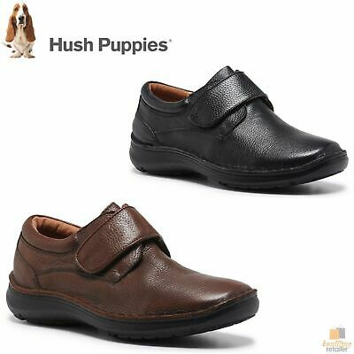 HUSH PUPPIES BLOKE Leather Shoes Slip On Extra Wide Work All Day Comfort New