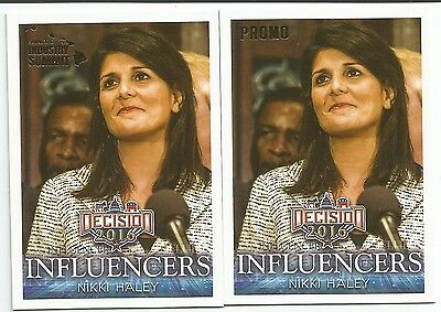 DECISION 2016 Rare Political Cards NIKKI HALEY Hawaii Industry Summit PROMO #P11