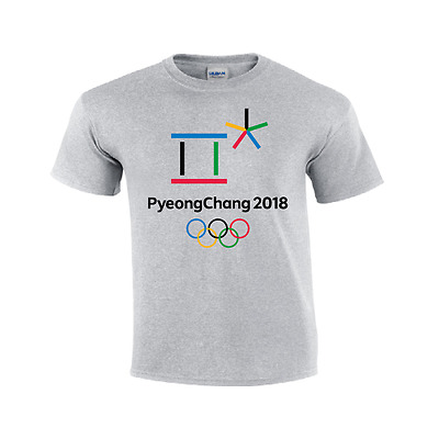 PyeongChang 2018 Winter Olympics Games T Shirt  Mens and Youth Sizes Gildan
