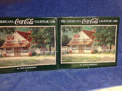 Eight Jim Harrison Coca Cola Collectible Advertisement Calendars