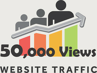 Over 50,000 Views for your website/blog real Web TRAFFIC + Live stats