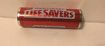 Life Saver Wild Cherry  Metal Tin Container