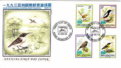 Papua New Guinea - 1993 -   Small  Birds  - First day Cover