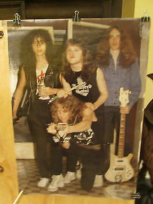 METALLICA - JETTA POSTERS 1985 - RIDE THE LIGHTNING era  Rare Poster