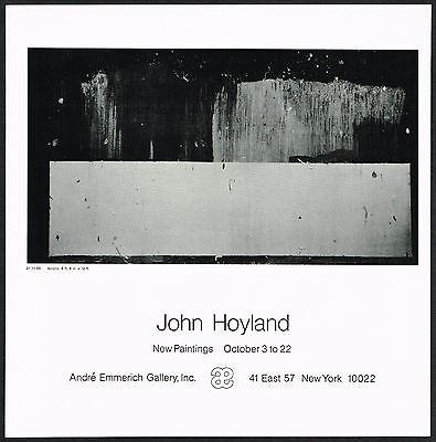 1970 Vintage John Hoyland Art Andre Emmerich Gallery NY Exhibition Print AD