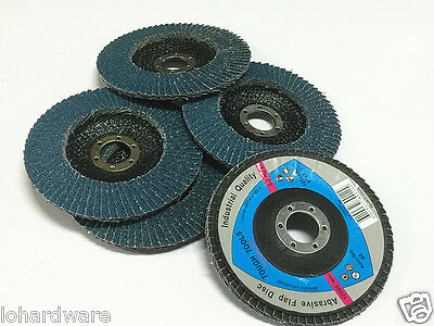 "10 x 125 mm (5"")steel/stainless steel Flap Discs Wheels  40 Grits Angle Grinder"