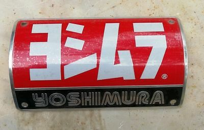 New Yoshimura Racing Motorcycle Aluminium Decal Muffler Metal Exhaust Plate x1