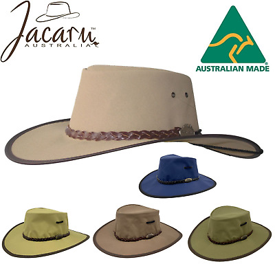 JACARU Full Canvas Parks Explorer Sun Hat Water Resistant Wide Brim Work Toggle