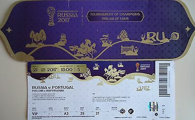 VIP TICKET & Hülle Confed Cup 21.6.2017 Russland - Portugal # Match 5