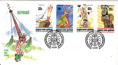 Papua New Guinea - 1989 -  Dancers - First day Cover