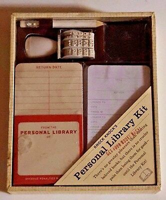 """Knock Knock's Personal Library Kit NIB """"Get Your Books Back"""""""