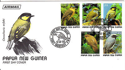 Papua New Guinea - 1989 -   Birds - First day Cover