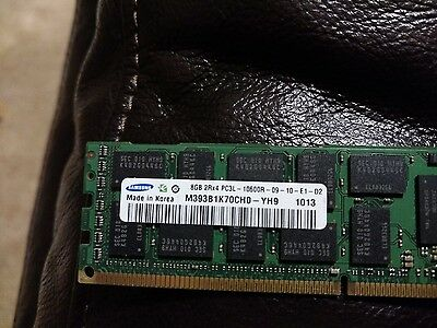 Server Ram  SAMSUNG DDR3 64GB Kit (8x8GB) 2Rx4 PC3L-10600-R ECC 10600R 1333