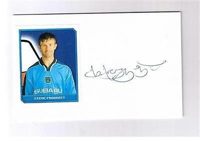 Football Autograph white card - Coventry City STEVE FROGGATT
