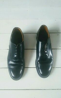 Men's Vintage Dunn & Co leather Black shoes lace up UK Size 7.5 Made in England