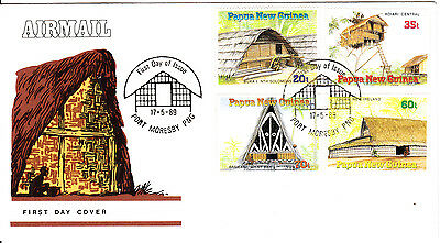 Papua New Guinea - 1989 -   Papua Dwellings - First day Cover