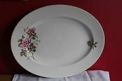 Alfred Meakin Glo White Serving Platter Pink Rose