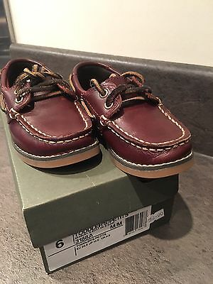 Baby Toddler Boys Timberland Moccasin Boat Shoes Size Uk5.5