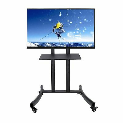 """Rolling TV Cart Stand Mount w/ Wheels Mobile for 32""""- 65"""" LED LCD Flat Screen mp"""