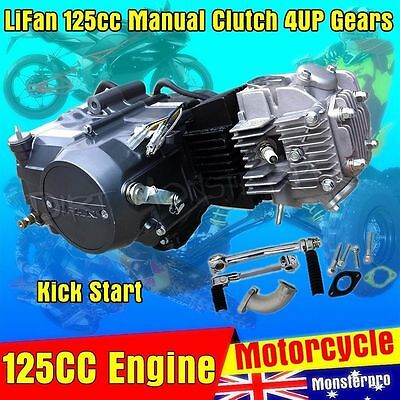 125cc LIFAN 4UP Gear Manual Clutch Engine Motor 4 Dirt Pit Bike Thumpstar Atomik