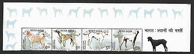 (111cents) India 2005 Breeds of Indian Dog Strip of 4 From Sheet let MNH