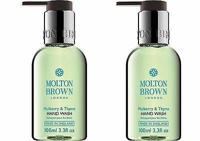 Molton Brown Mulberry & Thyme Hand Wash 2 x 100ml (200ml) – NEW