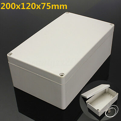 Waterproof ABS Electronic Project Box Enclosure Hobby Case Screw 200x120x75mm AU
