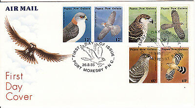 Papua New Guinea - 1985 - Birds of Prey  - First day Cover