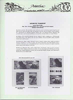 NEW - 1998 Seven Seas Antarctic Hingeless Pages