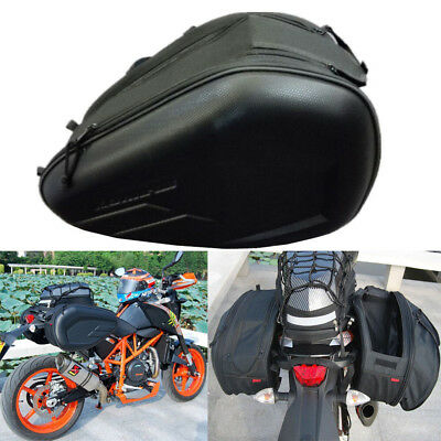 Black Multi-use Expandable Motobike Panniers Saddle Bags Motorcycle Luggage Bags