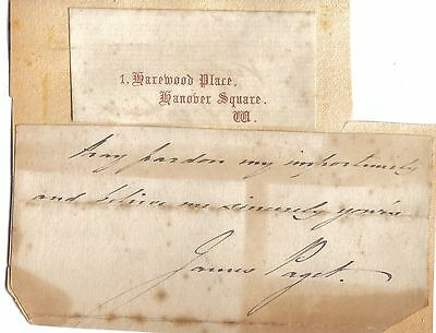 Sir James Paget - surgeon to Queen Victoria - end of original letter with sig.