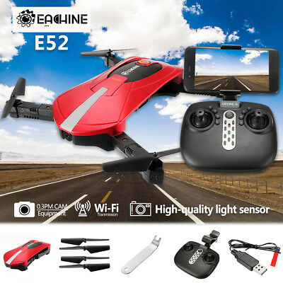 Eachine E52 WiFi FPV w/ HD Camera High Hold Mode Foldable Arm RC Quadcopter UK