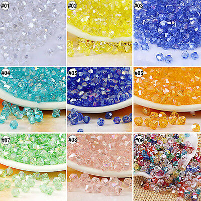 100/500pcs MIxed Color Synthetic Crystal Gemstone Diamond Shape Beads Strand