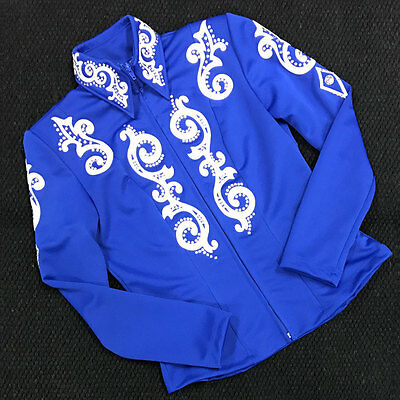 1602-011 Hobby Horse Women's Solitaire Horse Show Jacket - Royal Blue NEW