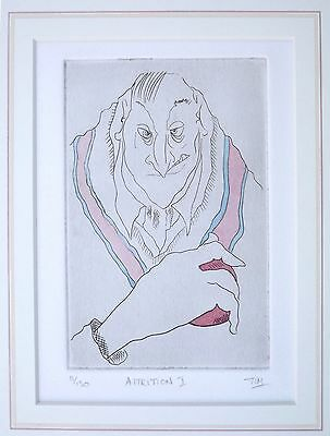 Tim Bulmer limited edition cricket print ' Attrition 1' Caricature, Humorous