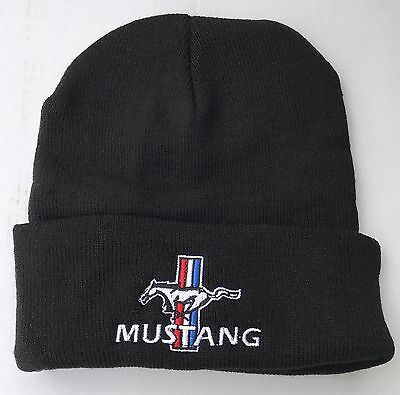 Ford Mustang Embroidered Beanie Fastback Gt Mach 1 Boss 302 351 429 289 Gt500