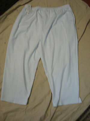HMJ RESORT White Pull-On All-Around-Elastic Capris Cropped Pants NWT Womens XL