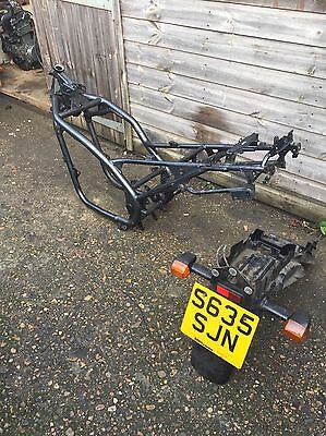 Kawasaki er500 frame 98-99 with number plate and V5