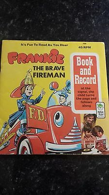 Peter Pan Frankie The Brave Fireman Book And Record 45 Rpm 1959 Uk Seller