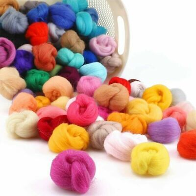 100g Genuine Wool Top Fibre Roving For Needle Felting Materials Lot Color option