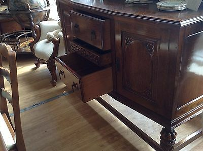 Beautiful & Ornate Vintage Carved Oak Dresser INCLUDING FREE DELIVERY (T&C's)