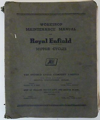 Royal Enfield Clipper, Crusader, and 250 Trials Workshop Manual - early 1960s