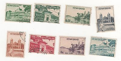 1958 South VIETNAM MUSEUM & BUILDINGS FULL SET x 8  SG#S75-S82 USED
