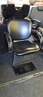 Back wash chair unit with sink for hair dressers salon (ano 491)
