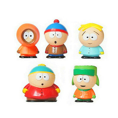 2017 5pcs/set 5cm South Park Mini PVC Action Figure Toys Dolls New in opp bag