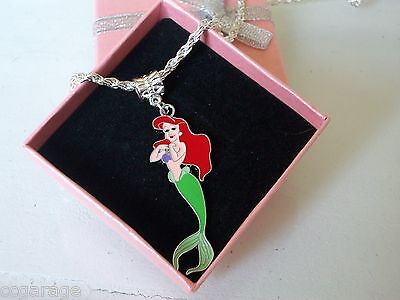 Little Mermaid Ariel Necklace Strong Chain Age 2,3,4,5,6,year Gift Box Birthday